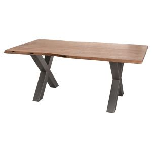 Hill Interiors 19743 Live Edge Collection Dining Table ACACIA Width 100cm Height 78cm Depth 180cm Weight 75.000000kg, BROWN