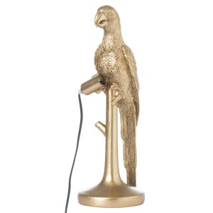 Hill Interiors 21665 Percy The Parrot Gold Table Lamp RESIN Width 16cm Height 43cm Depth 16cm Weight 3.19kg, GOLD