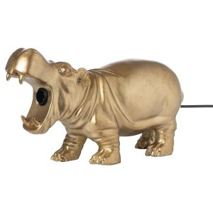 Hill Interiors 22024 Hetty The Hippo Gold Table Lamp RESIN Width 38cm Height 23cm Depth 23cm Weight 2.55kg, GOLD