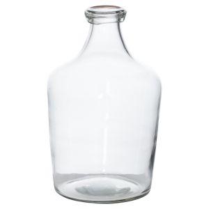 Hill Interiors 22009 Bulbous Narrow Neck Glass Vase GLASS Width 15cm Height 24cm Depth 15cm Weight 0.70kg, CLEAR