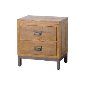 Hill Interiors 19525 The Draftsman Collection Two Drawer Bedside BROWN Width 59cm Height 63cm Depth 42cm Weight 17.10kg, Furniture > Cabinets > Bedside