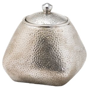 Hill Interiors 20770 Aspen Trinket Jar SILVER Width 16cm Height 16cm Depth 16cm Weight 1.20kg, Gifts & Accessories > Ornament