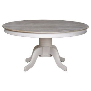 Hill Interiors 18887 The Liberty Collection Large Round Dining Table WHITE Width 150cm Height 74cm Depth 150cm Weight 13.00kg, WHITE