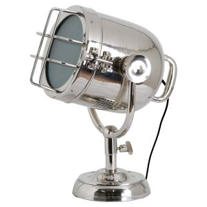 Hill Interiors 19810 Nickel Industrial Spotlight Table Lamp SILVER Width 32cm Height 41cm Depth 30cm Weight 4.10kg