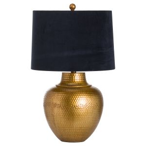 Hill Interiors 20701 Knowles Bronze Table Lamp With Black Velvet Shade CERAMIC Width 40cm Height 66cm Depth 40cm Weight 4.00kg