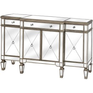 Hill Interiors 18623 The Belfry Collection Mirrored Sideboard MIRRORED GLASS Width 160cm Height 97cm Depth 40cm Weight 55.00kg, GOLD
