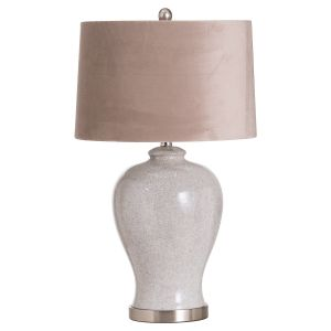 Hill Interiors 20704 Hadley Ceramic Table Lamp With Natural Shade CERAMIC Width 41cm Height 73cm Depth 41cm Weight 4.90kg