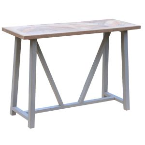 Hill Interiors 21471 Nordic Grey Collection Console Table WOOD Width 110cm Height 75cm Depth 40cm Weight 13.50kg, BROWN