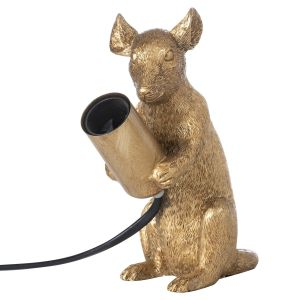 Hill Interiors 21663 Milton The Mouse Gold Table Lamp RESIN Width 14cm Height 16cm Depth 10cm Weight 0.60kg, GOLD