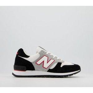 Comme Des Garcons New Balance 670 Trainers Black White Red Jw,black, Black