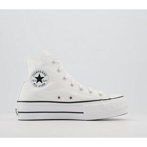 Converse Platform Hi Trainers White Black White,white, White