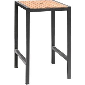 Bolero Square Steel And Acacia Bar Table 600mm Ds155 Kitchen