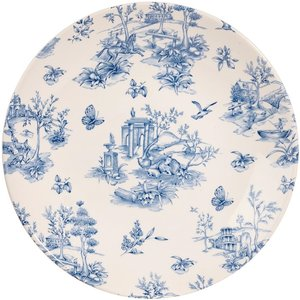 Churchill Super Vitrified Churchill Vintage Prints Deep Coupe Plates Prague Toile 255mm (pack Of 12) Pack Of 12 Top Pd251 Crockery