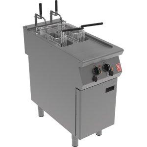 Falcon F900 Twin Pan, Twin Basket Electric Fryer On Feet E9342f2 Deep Fryers