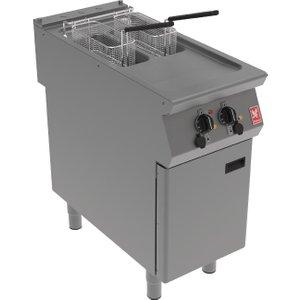 Falcon F900 Twin Pan, Twin Basket Electric Fryer On Feet E9342b Deep Fryers