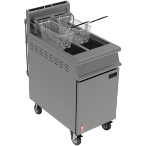 Falcon Free Standing Natural Gas Filtration Fryer With Castors G3845f Deep Fryers