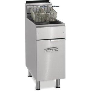 Imperial Single Tank Twin Basket Free Standing Propane Gas Fryer Ifs-40-op Ifs 40 Op(lpg) Deep Fryers