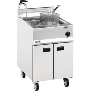Lincat Opus 800 Single Tank Twin Basket Free Standing Propane Gas Filtration Fryer Og8107/ Og8107/op/p Deep Fryers