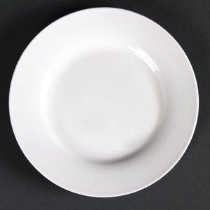 Lumina Fine China Lumina Wide Rim Round Plates 150mm (pack Of 6) Pack Of 6 Cd621 Crockery