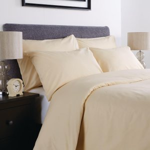 Mitre Comfort Percale Oxford Pillowcase Oatmeal Pack Of 2 Hb926