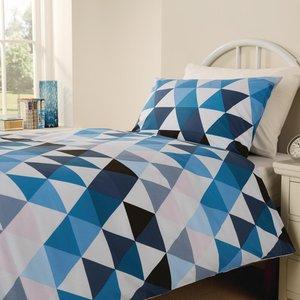 Mitre Essentials Geo Bedding Set Blue Double Hd160