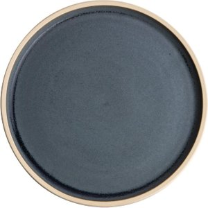Olympia Canvas Flat Round Plate Blue Granite 180mm (pack Of 6) Pack Of 6 Fa300 Crockery