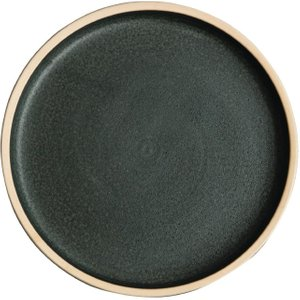 Olympia Canvas Flat Round Plate Green Verdigris 180mm (pack Of 6) Pack Of 6 Fa321 Crockery