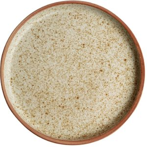 Olympia Canvas Flat Round Plate Wheat 180mm (pack Of 6) Pack Of 6 Fa335 Crockery