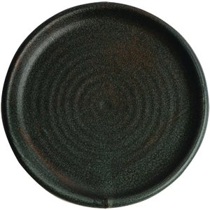 Olympia Canvas Small Rim Round Plate Green Verdigris 180mm (pack Of 6) Pack Of 6 Fa323 Crockery