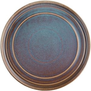 Olympia Cavolo Flat Round Plates Iridescent 220mm (pack Of 6) Pack Of 6 Fd915 Food