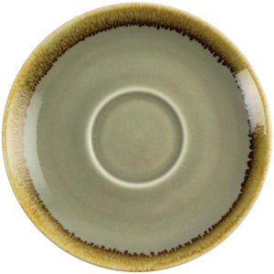 Olympia Kiln Cappuccino Saucer Moss 140mm (pack Of 6) Pack Of 6 Gp479 Crockery