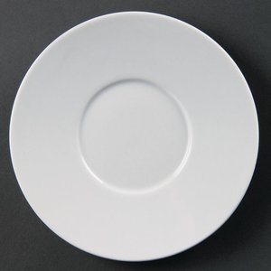 Olympia Whiteware Elegant Saucers 148mm (pack Of 12) Pack Of 12 Cd737 Drinks