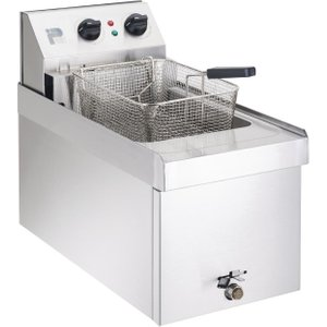 Parry Single Tank Single Basket Countertop Electric Fryer Npsf6 Deep Fryers