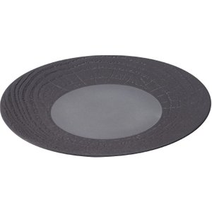 Revol Arborescence Round Plate Liquorice Black 310mm (pack Of 2) Pack Of 2 648325 Crockery