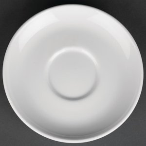Royal Porcelain Classic White Breakfast Saucers 160mm (pack Of 12) Pack Of 12 Cg030 Crockery