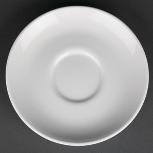 Royal Porcelain Classic White Cappuccino Saucers 150mm (pack Of 12) Pack Of 12 Cg031 Crockery