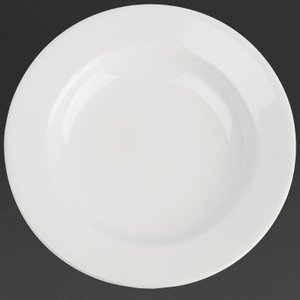 Royal Porcelain Classic White Wide Rim Plates 280mm (pack Of 12) Pack Of 12 Cg010 Crockery