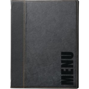 Securit Contemporary Menu Cover Black A5 H714 Office Supplies