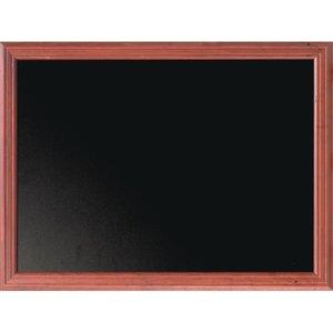 Securit Wall Mounted Blackboard 1000 X 800mm Mahogany E086 Kitchen