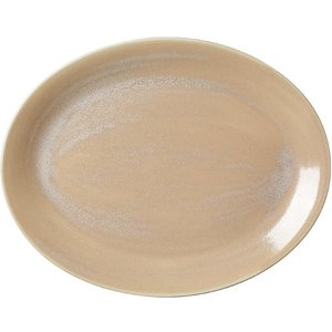 Steelite Revolution Sandstone Oval Coupe Plate 342mm (pack Of 12) Pack Of 12 17760145 Storage