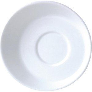 Steelite Sheer White Saucers Small 117mm (pack Of 12) Pack Of 12 V7718 Crockery