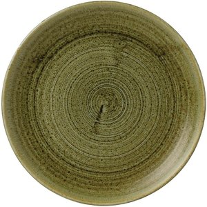 Churchill Super Vitrified Stonecast Plume Olive Coupe Plate 8 2/3  (pack Of 12) Pack Of 12 Plgrevp81 Medical