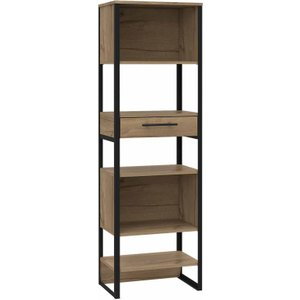 Brooklyn Tall Narrow Bookcase With 1 Drawer, Pine 1095200103, Pine
