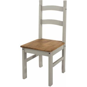 Corona Grey Solid Pine Dining Chair Set Of 2, Grey 1096010259, Grey