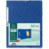 Exacompta Europa 3 Flap Elastic Folder A4 Pack Of 50 400gsm, Blue, Blue