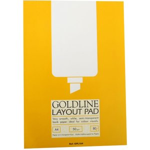 Goldline Layout Pad A4 50gsm 80 Sheets, Gold Gpl1a4, Gold