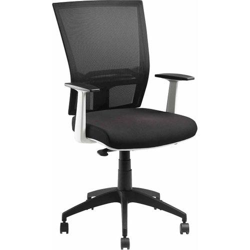 Pago Radar Ii White Synchro Ergonomic Chair With Arms, Black/white 1075086066, Black/White