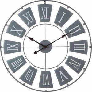 Premier Housewares Metal Wall Clock 90cm Grey, Grey, Grey