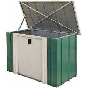Rowlinson Metal Storette Garden Storage Unit 4 X 2ft, Green/white, Green/White