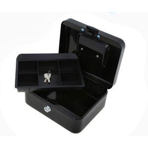 Ryman Button Release Cash Box H90xw200xd170mm, Black, Black